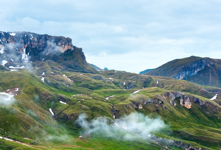 Summer Alps mountain (view from Grossglockner High Alpine Road) photo