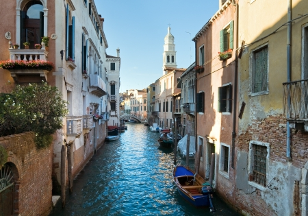 Nice summer venetian canal view, Venice, Italy Stock Photo - 10225184