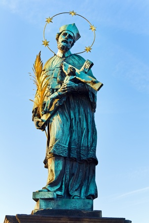 The statue of John of Nepomuk on Charles Bridge (Prague, Czech Republic). Author  Jan Brokoff, 1683.