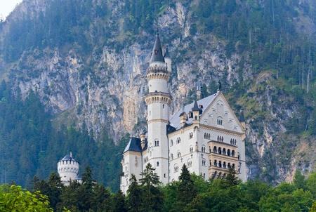 Historic medieval Neuschwanstein Castle in Bavaria (Germany)