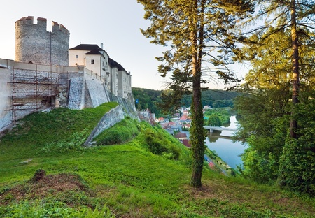 Evening  historic medieval Sternberk Castle in Czech Republic ( central Bohemia, near Prague ) photo
