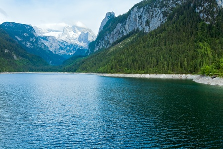 Beautiful summer Alpine  lake Gosausee view (Austria) photo