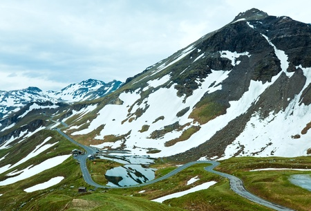 Summer Alps mountain (view from Grossglockner High Alpine Road) Stock Photo - 12342543