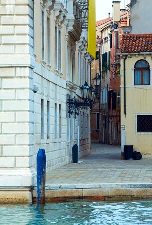 narrow street: Nice summer venetian canal and narrow street view (Venice, Italy)