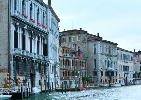 Nice summer venetian Grand canal view, Venice, Italy photo