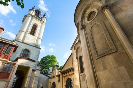 Ancient armenian church in Lviv City (Ukraine) photo