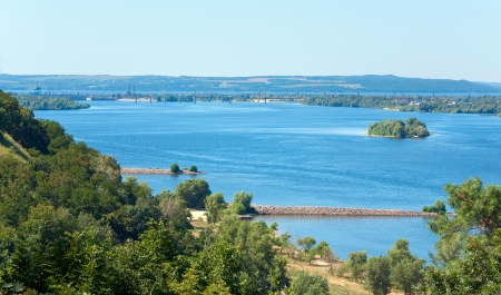 dnieper: Summer beautiful view from hill top on Dnieper river (Ukraine).
