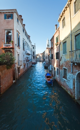 Nice summer venetian canal view, Venice, Italy Stock Photo - 16685261