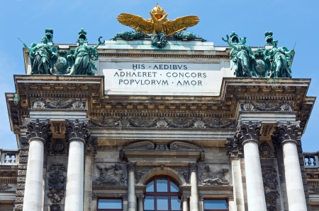 hofburg: Hofburg Palace facade (Vienna, Austria).  Built between 1881 and 1913