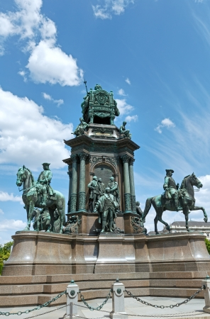 Maria Theresa Monument at Maria-Theresien-Platz in Vienna, Austria.  Revealed in 1888y. photo