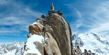 The mountain top station of the Aiguille du Midi in Chamonix, France. photo