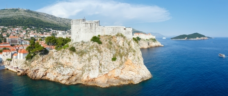 Famous Dubrovnik Old Town summer panorama In Croatia. All people are unrecognizable. photo