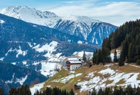 osttirol: Mountain Obergail village outskirts in Lesachtal on Carinthia-East Tyrol border, Austria.