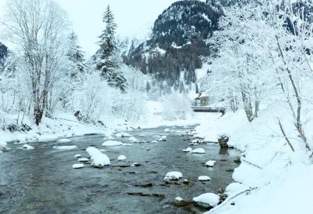limpid: Winter mountain limpid river landscape (Austria)