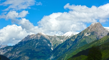 Summer Alps mountain view (Warth, Vorarlberg, Austria). photo