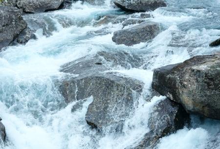 norge: Mountain river waterfalls (Ottafossen, Norge ). Nature . Stock Photo