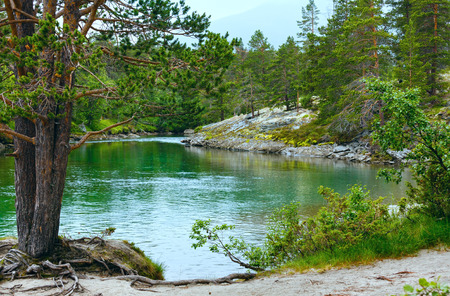 Summer mountain river view (near Stordal, Norge).