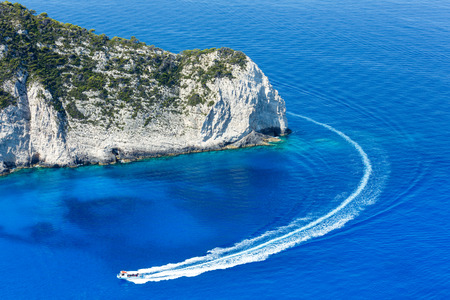 identifiable: Summer coastline landscape (Zakynthos, Greece, near Navagio bay). All people are not identifiable.