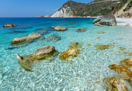 kefalonia: Petani Beach summer view in Kefalonia, Greece