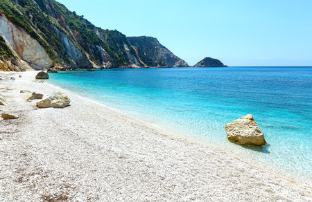 kefalonia: Petani Beach summer view (Kefalonia, Greece)