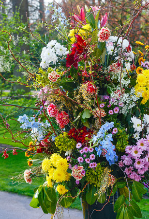 Big Multicolor Wonderful Flowers Bouquet On Spring Park Stock Photo Picture And Royalty Free Image 38209646