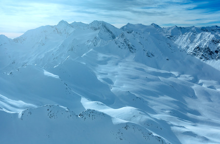 tirol: Morning winter  Dolomiten mountain landscape. Ski resort  Obergurgl - Hochgurgl, Tirol, Austria.