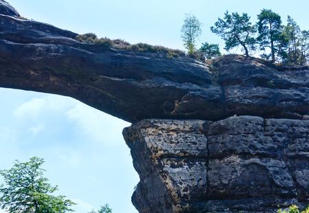 ceske: The Pravcicka brana. Narodni park Ceske Svycarsko, Czech Republic.