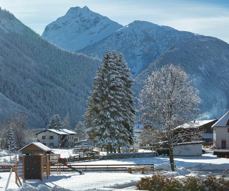 tirol: Haselgehr village winter view (Austria, Tirol)