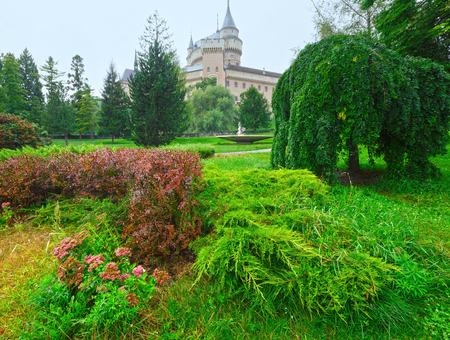 12th century: Bojnice Castle (Slovakia). Summer. Built in the 12th century, rebuilt in 1889-1910 Stock Photo