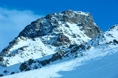 tyrol: Morning winter Silvretta Alps landscape (Tyrol, Austria).
