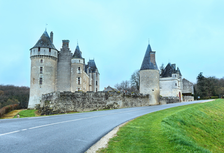 existed: The Chateau de Montpoupon spring view from road, France. Castle already existed in the 12th century, and probably earlier. Editorial