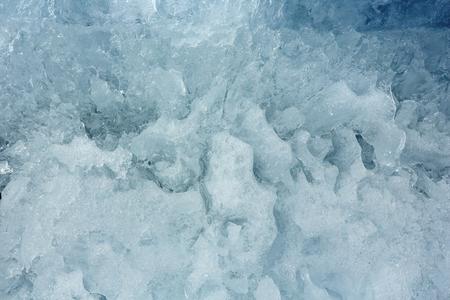 glacial: Melting glacial block of ice closeup.