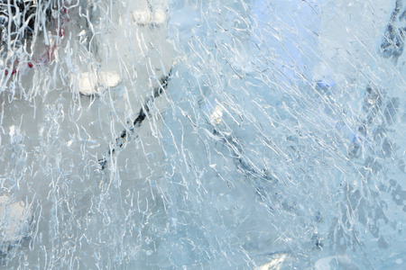 glacial: Glacial transparent block of ice with interesting drawings and patterns