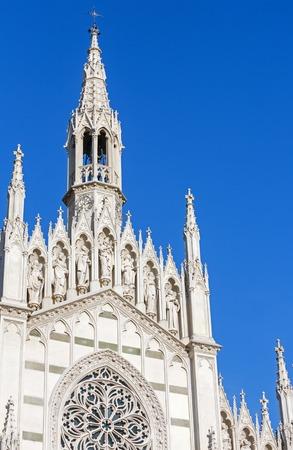 chiesa: Church of the Sacred Heart of Jesus in Prati (also known as Chiesa del Sacro Cuore del Suffragio) in centre of Rome (Italy) Stock Photo