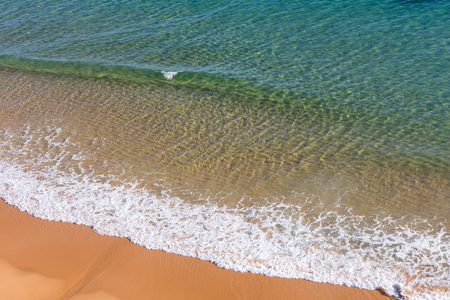 limpid: Limpid sea water surface. View from above. Nature background. Stock Photo