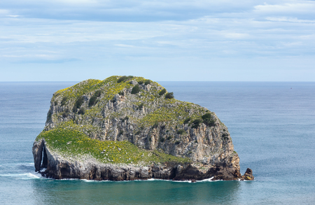 the basque country: Biscay bay coast landscape, near Gaztelugatxe island, Basque Country (Spain).