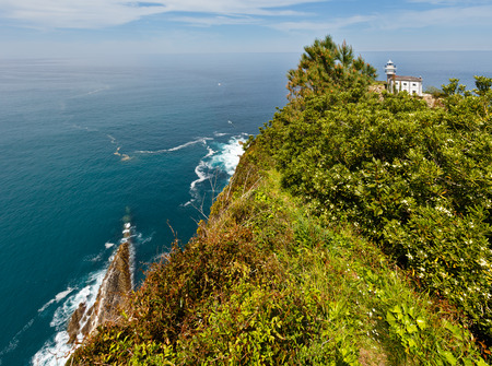 anton: Getaria Lighthouse is located at the end Getaria Mouse (symbol of town), on Mount San Anton. Spain, Basque Country.