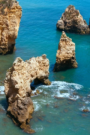 Ponta da Piedade (group of rock formations along coastline of Lagos town, Algarve, Portugal).