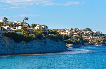 Calpe town summer coastl view at Costa Blanca (Valencia), Spain.