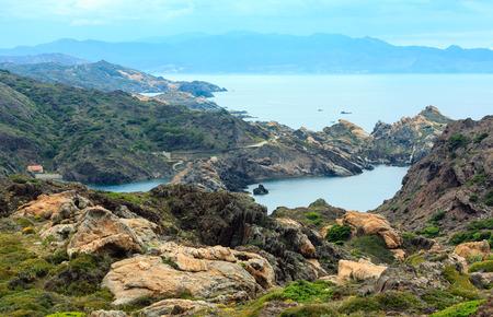 Mediterranean rocky coast summer view from Creus cape, Costa Brava, Catalonia, Spain.