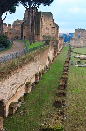 hippodrome: Hippodrome Stadium of Domitian at Palatine Hill in Rome, Italy.