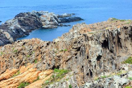 Mediterranean rocky coast summer view from Creus cape (Cap de Creus), Costa Brava, Catalonia, Spain.