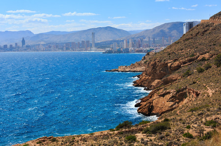 blanca: Benidorm city coast summer view (Costa Blanca, Alicante, Spain).
