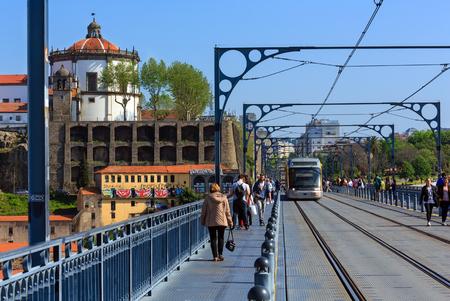 dom: PORTO, Portugal - May 15, 2016: The Dom Luis I (or Luiz I) Bridge over Douro river, Porto, Portugal. Éditoriale