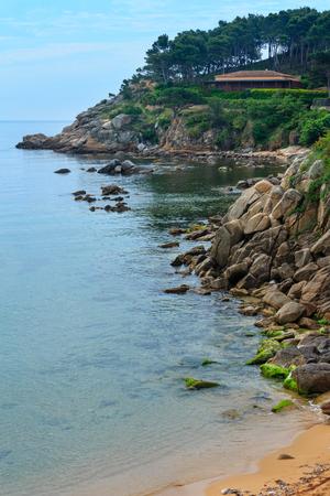 Summer morning sea coast landscape, Girona, Costa Brava, Spain.