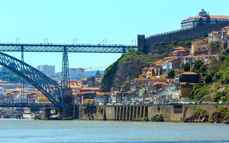 The Dom Luis I (or Luiz I) Bridge over Douro river, Porto, Portugal.