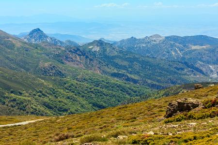 Summer mountain landscape (Sierra Nevada National Park, near Granada, Spain).