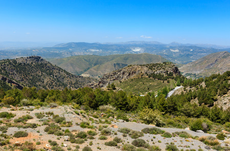 Summer mountain landscape (Sierra Nevada National Park, near Granada, Spain).