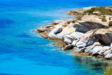 Summer sea coast landscape (Halkidiki, Sithonia, Greece).