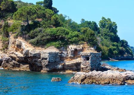 Beautiful rocky sea coast just near Palmaria island in Portovenere, in the Gulf of Poets (La Spezia, Liguria, Italy)